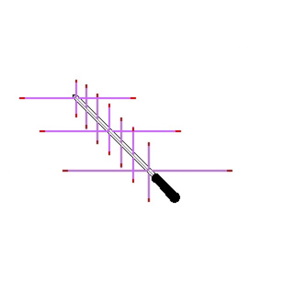 Handheld antenna Yagi duaband 3 element VHF 7 element UHF