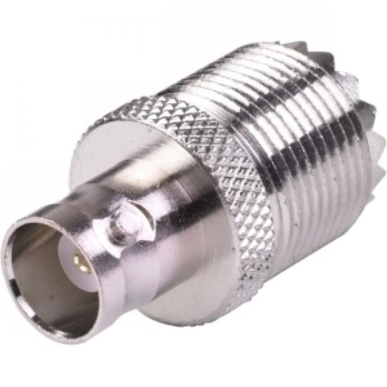 BNC female to UHF SO239 female adapter