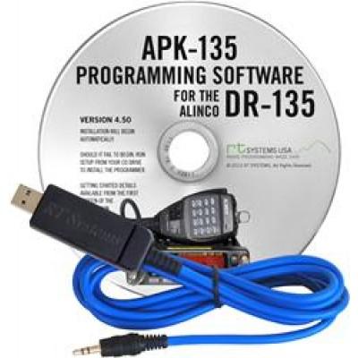 Logiciel de programmation APK-135 et USB-29A pour le Alinco DR-135T