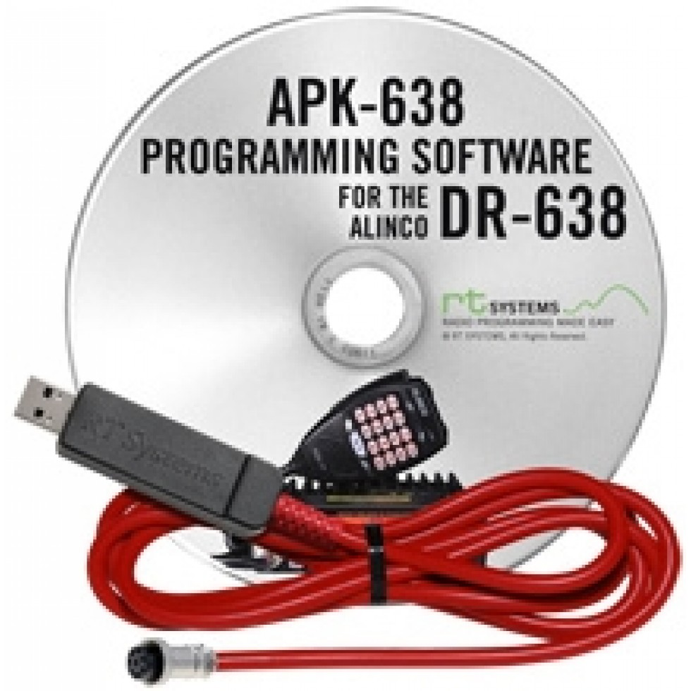 APK-638 Programming software for the Alinco DR-638