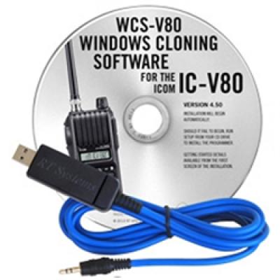 Logiciel de programmation WCS-V80 pour le Icom IC-V80