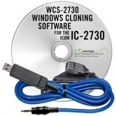 Logiciel de programmation WCS-2730 et USB-29A cable pour le Icom IC-2730