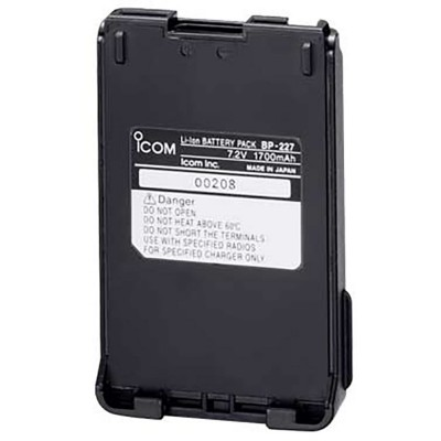 BP-227 Icom, Li-Ion Battery 7.2V 1700 mAH