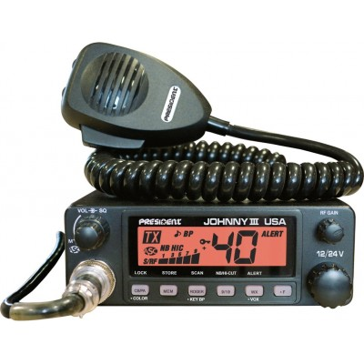 President Johnny III Uniden radio CB AM mobile 12v / 24v