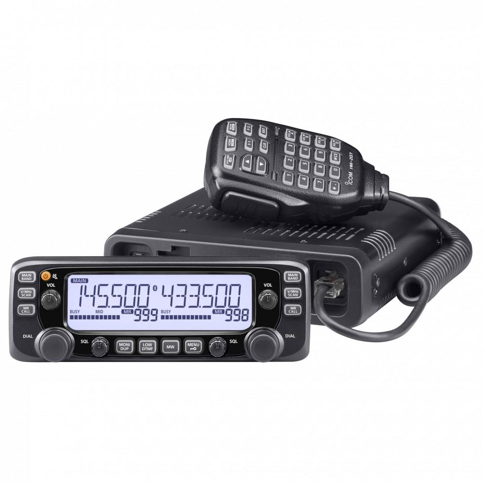 Mobile Ham Radio Dual Band Vhf Uhf Icom Ic 2730a Remote Control Using Dtmf Receiver Transceiver Fm