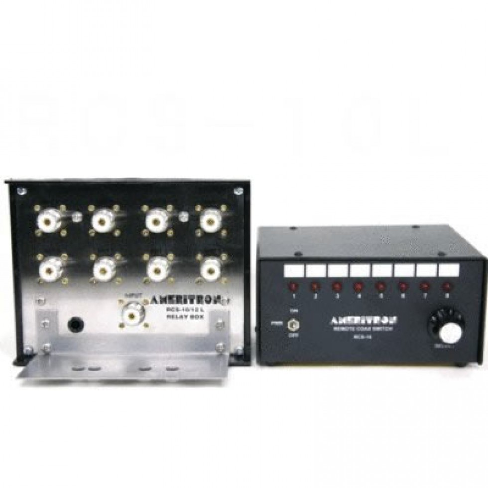 RCS-10L Lightning protected remote antenna coax switch