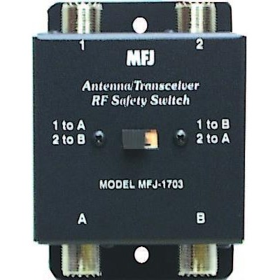 MFJ-1703 Antenna/Crossover RF safety switch