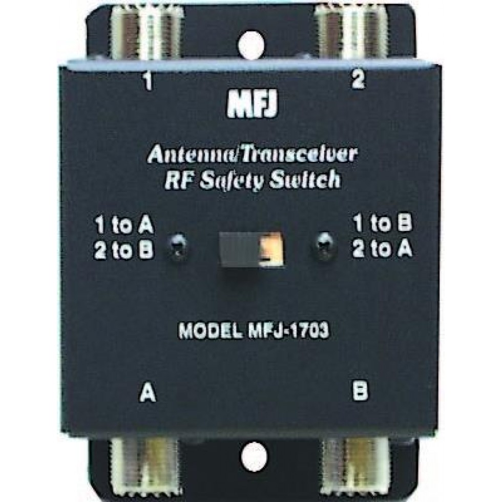 MFJ-1703 Antenna/Transceiver RF safety switch
