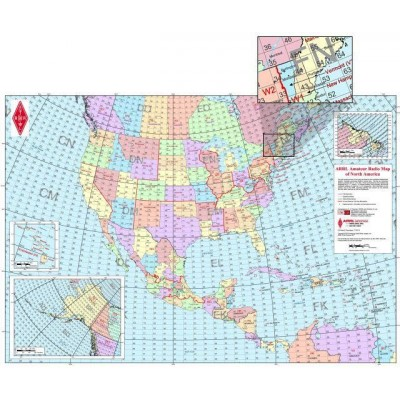 Amateur Radio Map of North America