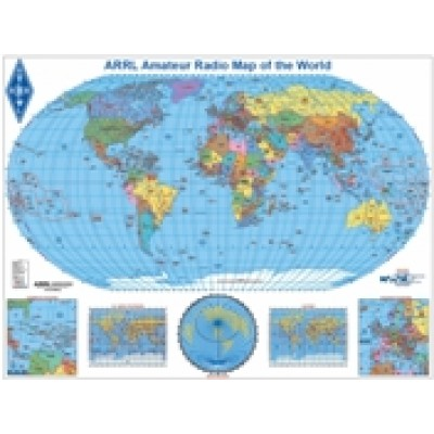 Amateur Radio Map of the World (Robinson)