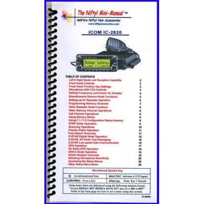 Instruction manual for the Icom IC-2820