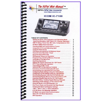Instruction manual for the Icom IC-7100