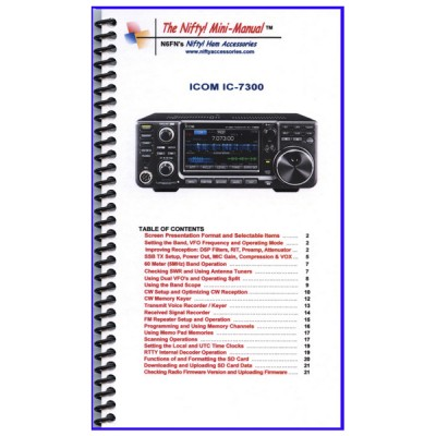 Instruction manual for the Icom IC-7300