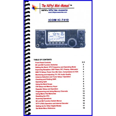 Instruction manual for the Icom IC-7410