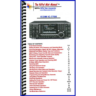 Instruction manual for the Icom IC-7700