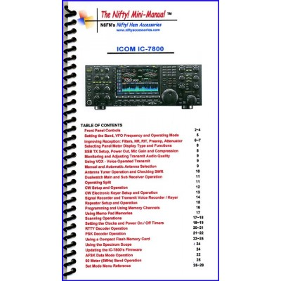 Instruction manual for the ICOM IC-7800